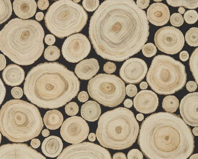 Sanderson Alnwick Logs Ash 216510 Wallpaper