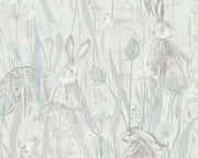 Sanderson Dune Hares Mist/Pebble 216518 Wallpaper