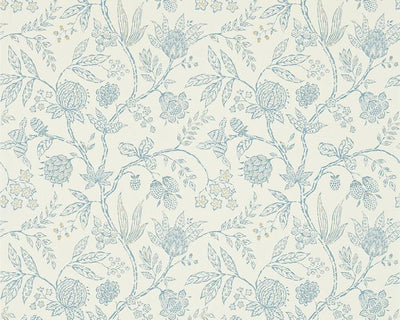 Sanderson Solaine Calico/Wedgwood 214087 Wallpaper