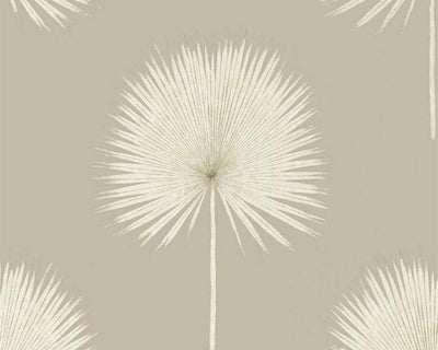 Sanderson Fan Palm Linen/Gilver 216637 Wallpaper
