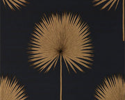 Sanderson Fan Palm Charcoal/Gold 216639 Wallpaper