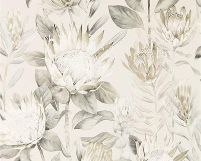 Sanderson King Protea Linen/Mica 216647 Wallpaper