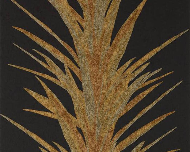 Sanderson Yucca Charcoal/Gold 216651 Wallpaper