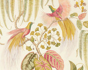 Sanderson Bird of Paradise Olive 216653 Wallpaper