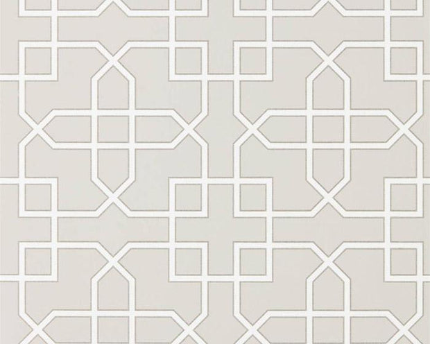 Sanderson Hampton Trellis Grey 216661 Wallpaper