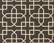 Sanderson Hampton Trellis Charcoal 216662 Wallpaper