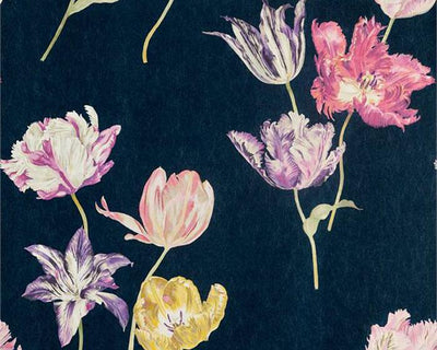 Sanderson Tulipomania Ink 216667 Wallpaper