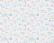 Sanderson Alphabet Zoo Neapolitan 214023 Wallpaper