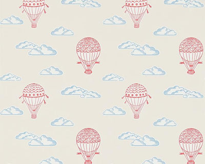 Sanderson Balloons Red/Vanilla 214029 Wallpaper