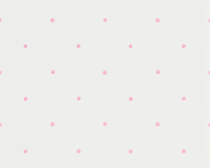 Sanderson Polka Pink/Cream 214049 Wallpaper