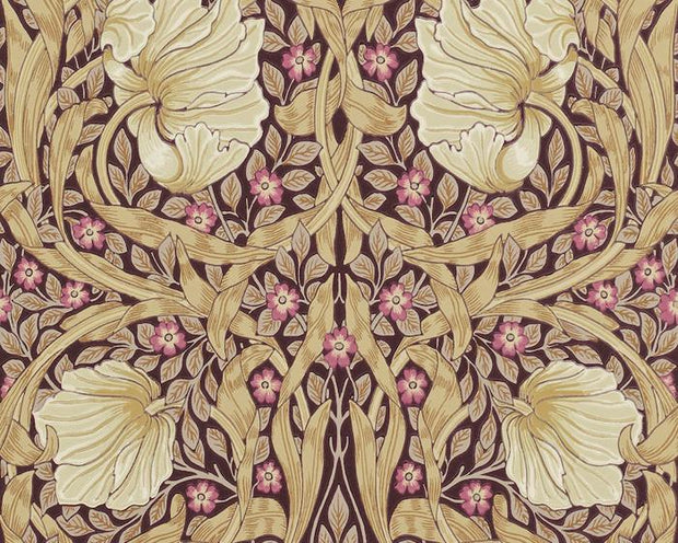 Morris & Co Pimpernel Fig/Sisal 210390 Wallpaper