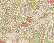 Morris & Co Golden Lily Olive/Russet 210399 Wallpaper