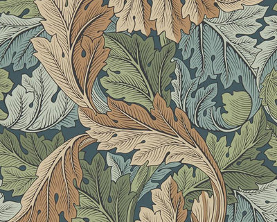 Morris & Co Acanthus Slate Blue/Thyme 216440 Wallpaper