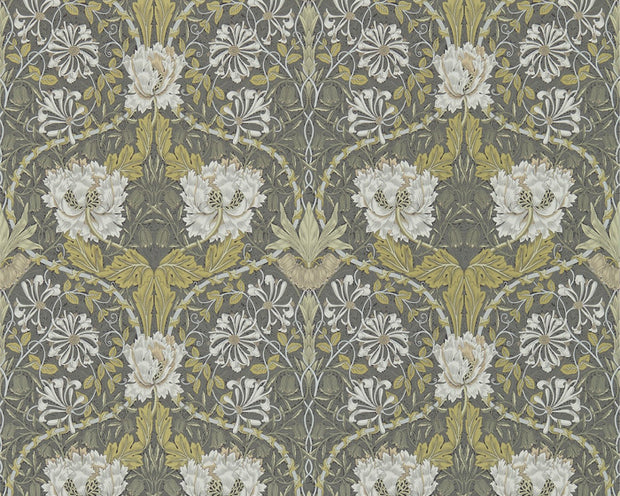 Morris & Co Honeysuckle & Tulip Charcoal/Gold