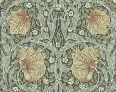 Morris & Co Pimpernel Bayleaf/Manilla 216470 Wallpaper
