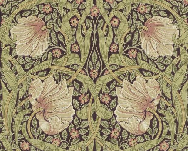 Morris & Co Pimpernel Bullrush/Russet 216471 Wallpaper