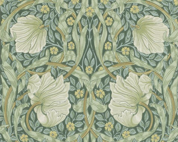 Morris & Co Pimpernel Privet/Slate 216472 Wallpaper