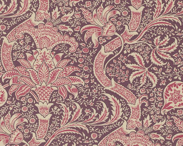 Morris & Co Indian Wine/Heather DMOWIN102 Wallpaper