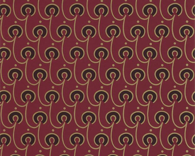 Morris & Co Red House Red/Black DMOWRE105 Wallpaper
