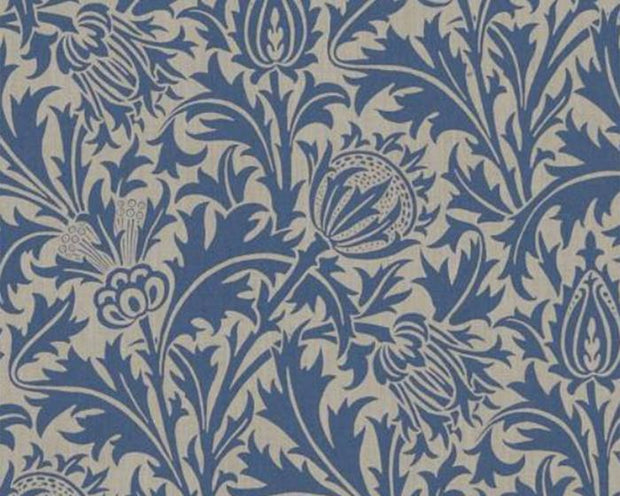 Morris & Co Thistle Linen/Indigo DMOWTH102 Wallpaper
