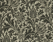 Morris & Co Thistle Black/Linen DMOWTH103 Wallpaper