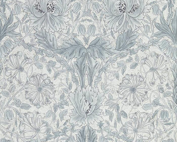 Morris & Co Pure Honeysuckle & Tulip Cloud Grey 216524 Wallpaper