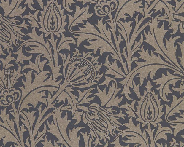 Morris & Co Pure Thistle Black Ink 216549 Wallpaper