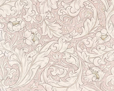 Morris & Co Pure Bachelors Button Faded Sea Pink 216553 Wallpaper