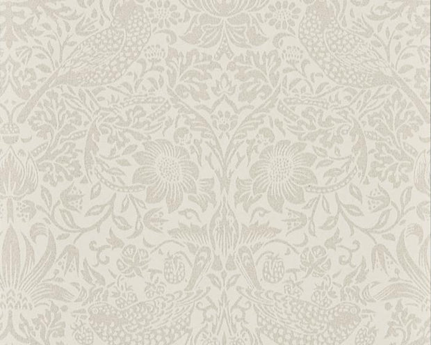 Morris & Co Strawberry Thief Ecru/Cream 216020 Wallpaper