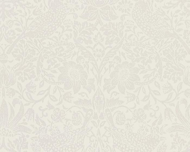 Morris & Co Strawberry Thief Oyster/Chalk 216021 Wallpaper