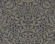 Morris & Co Pure Acorn Charcoal/Gilver 216033 Wallpaper