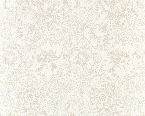 Morris & Co Poppy Ecru/Stone 216034 Wallpaper