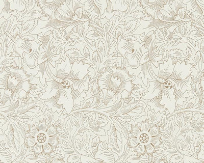 Morris & Co Poppy Cream/Gold 216035 Wallpaper