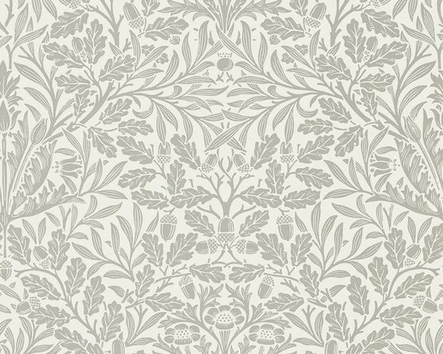 Morris & Co Pure Acorn Ecru/Pewter 216042 Wallpaper