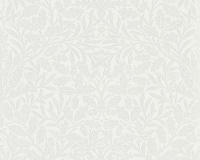 Morris & Co Pure Acorn Chalk/Silver 216043 Wallpaper