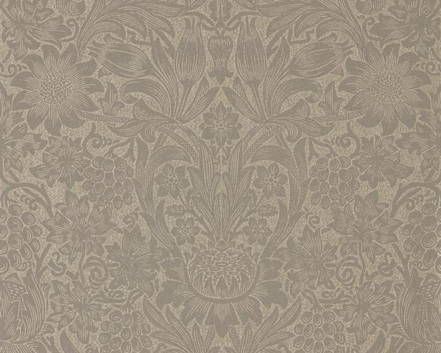 Morris & Co Sunflower Mole/Gold 216045 Wallpaper