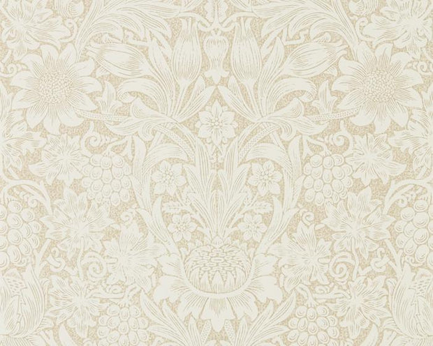 Morris & Co Sunflower Parchment/Gold 216047 Wallpaper