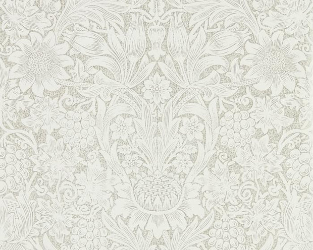 Morris & Co Sunflower Chalk/Silver 216049 Wallpaper
