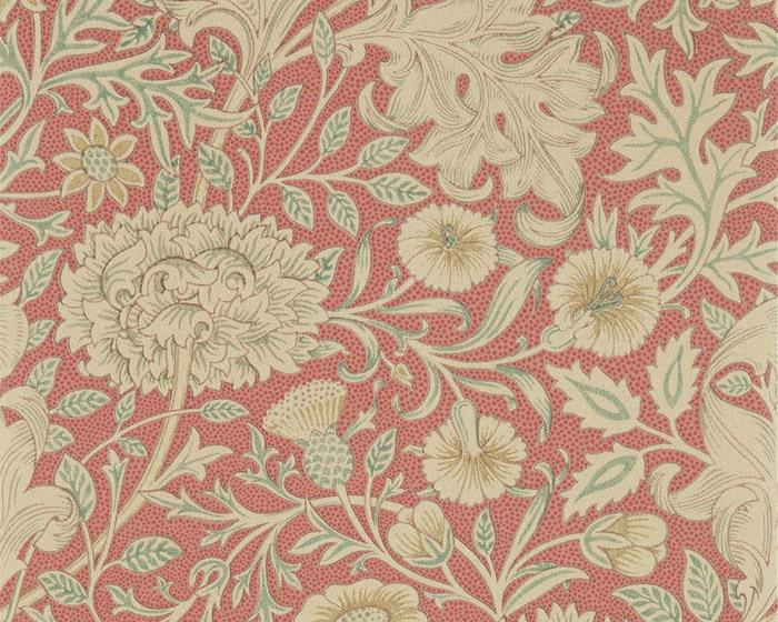 Morris & Co Double Bough Carmine Red 216683 Wallpaper