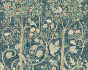 Morris & Co Melsetter Indigo Rose 216706 Wallpaper
