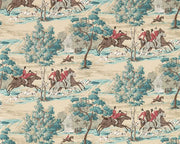 Sanderson Tally Ho Teal/Ruby 214597 Wallpaper