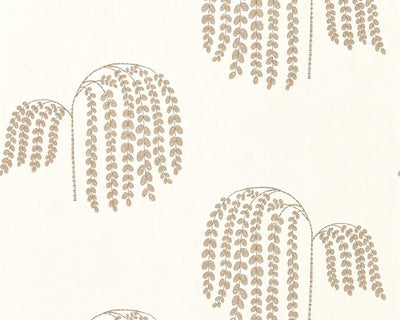 Sanderson Bay Willow Ivory/Gold 216271 Wallpaper