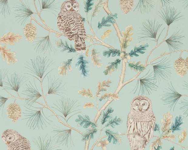 Sanderson Wallpapers Owlswick Whitstable Blue 216596 Wallpaper