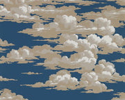 Sanderson Wallpapers Silvi Clouds Yacht Blue 216602 Wallpaper