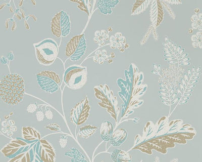 Sanderson Wallpapers Warwick Blue Grey 216617 Wallpaper