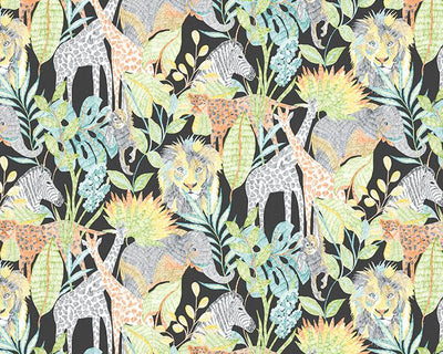 Harlequin Into the Wild Midnight Jungle 112649 Wallpaper