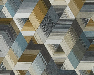 Harlequin Arccos Ochre/Steel 111971 Wallpaper