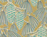 Harlequin Foxley Kingfisher/Gold 112127 Wallpaper