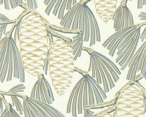 Harlequin Foxley Platinum/Gold 112128 Wallpaper