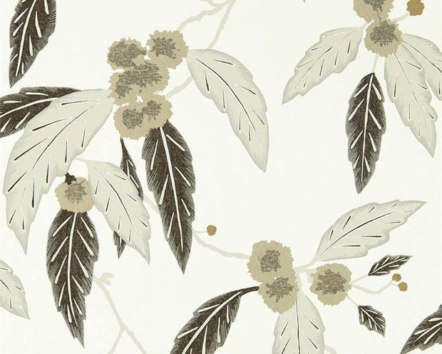 Harlequin Coppice Oyster/Ebony/Gilver 112134 Wallpaper
